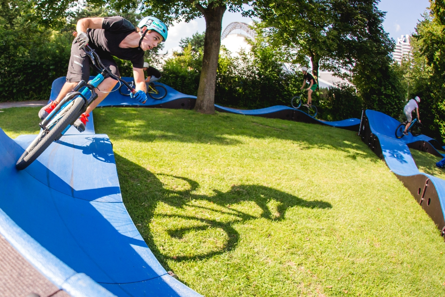 Pumptrack in Schwetzingen