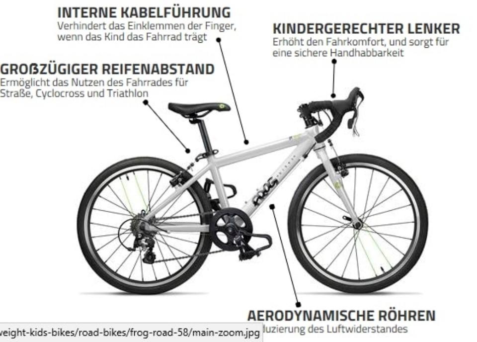 Frog Bikes, leichte und sportliche Jugend- und Kinderräder sowie Custom Made Räder