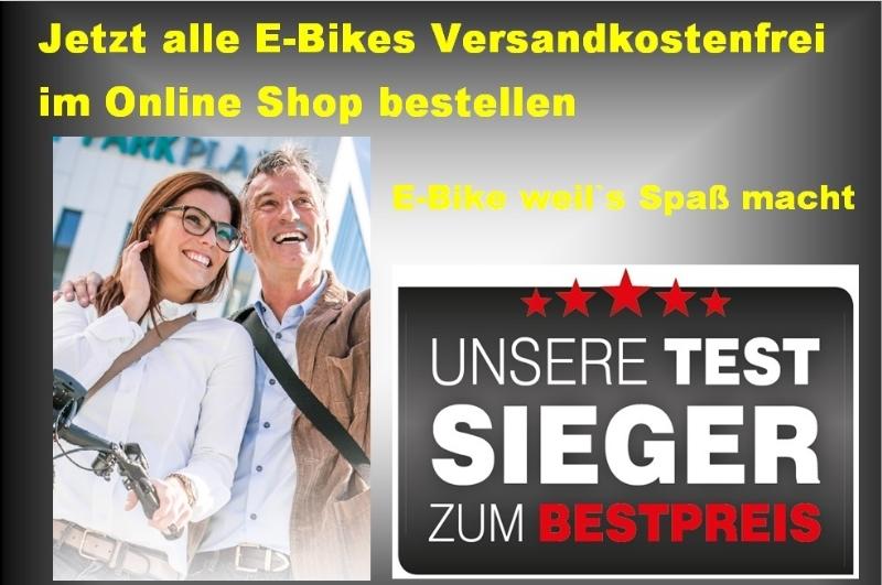 Alle E-Bikes im Online-Shop Versandkostenfrei !