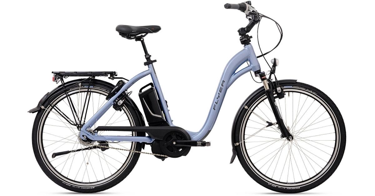 "FLYER E-Bike mieten (C5.1 26"" M Freilauf blau)"
