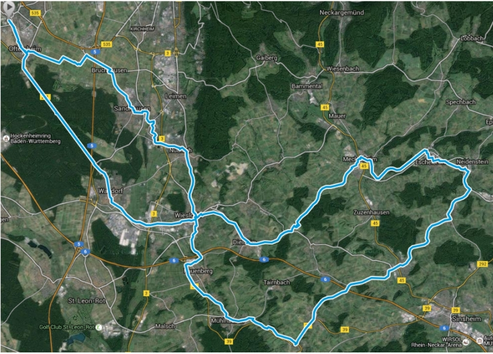"""RTF """"Durch den Radsport RNO"""""""