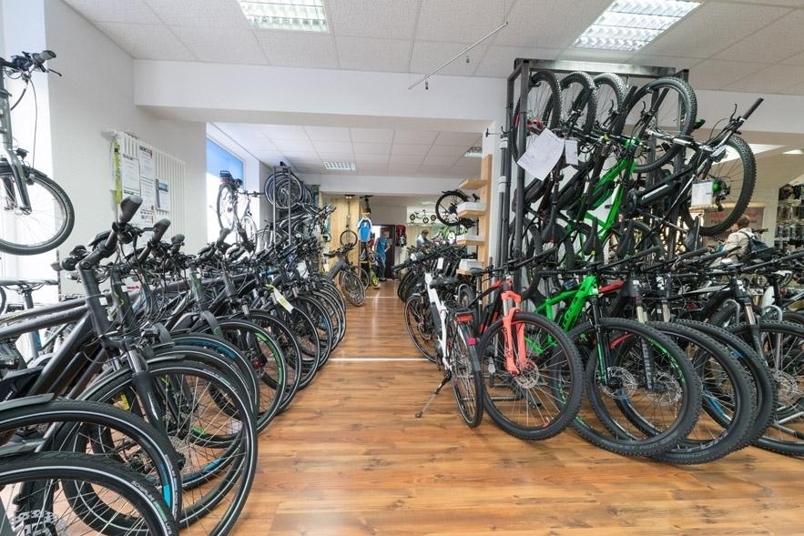 Riesige E-bike bzw. Pedelec Abteilung