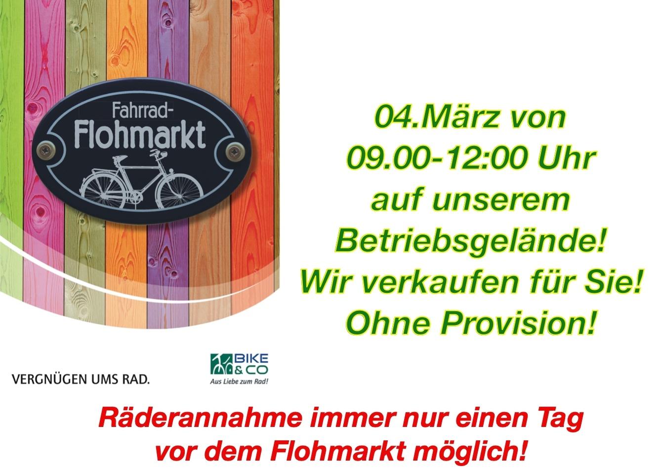1. Radl  - Flohmarkt!