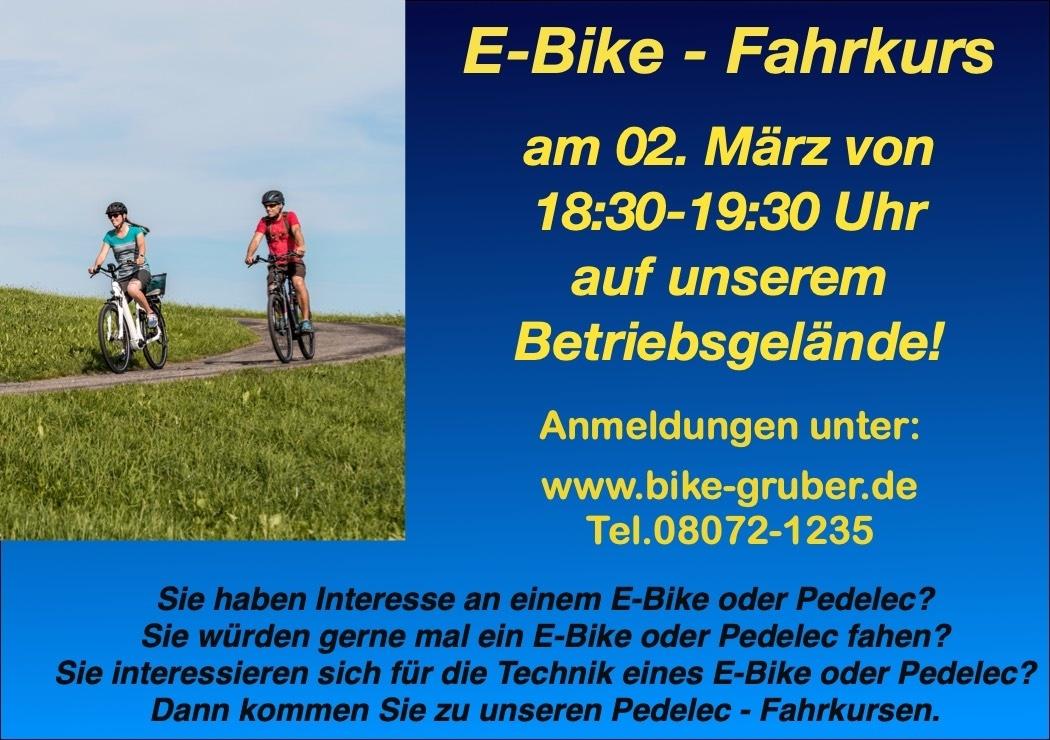 PEDELEC + E - BIKE FAHRKURS