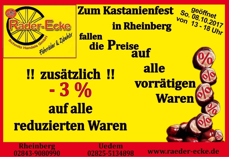 Kastanienfest Rheinberg, verkaufsoffener Sonntag