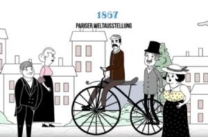 Film: Die Geschichte des Fahrrads in 2 Minuten