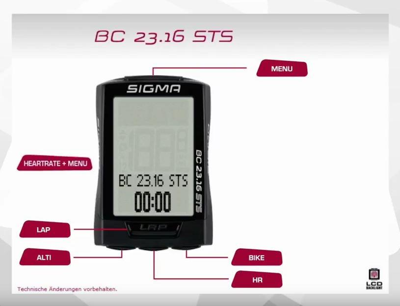 SIGMA - Fahrradcomputer BC 23.16 STS