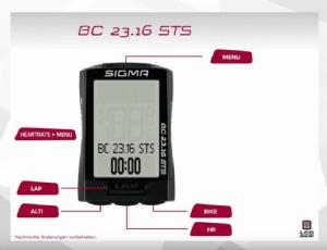 Film: SIGMA - Fahrradcomputer BC 23.16 STS