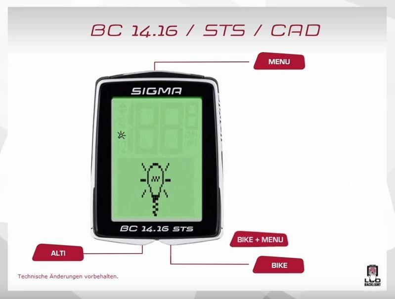 Film: SIGMA - Fahrradcomputer BC 14.16/STS/CAD