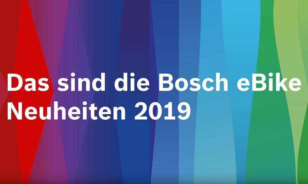 Bosch - eBike-Neuheiten 2019