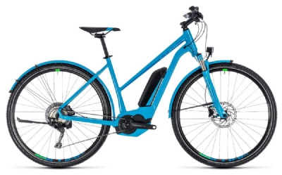 E-Bike-Angebot CubeCross Hybrid Race Allroad 500 blue´n´green RRh50 trapez