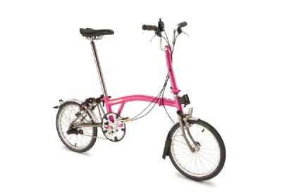 Faltrad-Angebot BromptonBlack Edition in Rahmenfarbe berry crush oder lime green
