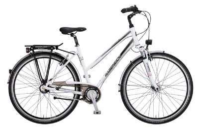 Trekkingbike-Angebot RabeneickVabene Trapez perlweiss 8-Gg A