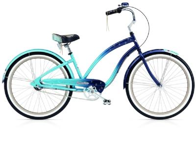 Cruiser-Bike-Angebot Electra BicycleNight Owl 3i  blue fade ladi�s