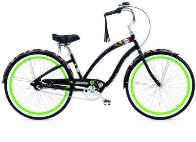 Cruiser-Bike-Angebot Electra BicycleSugar Skulls 3i black ladies