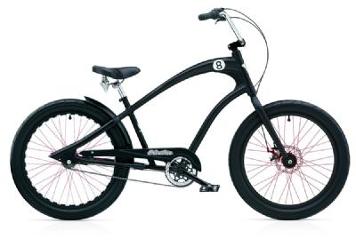 Cruiser-Bike-Angebot Electra BicycleStraight 8 3i disc black satin