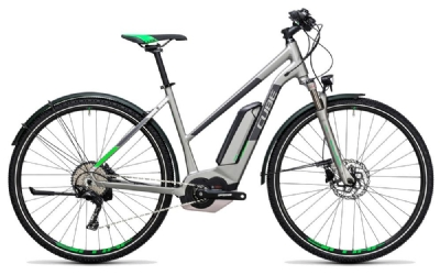 E-Bike-Angebot Cube Cross Hybrid Race Allroad 500 silver´n´green