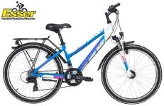 YazooSport 2.4 Mädchen 24 Zoll blau-weiss-pink