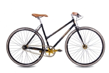 Chrisson FGS CrMo Lady 2S Kick Shift Sturmey Archer schwarz gold
