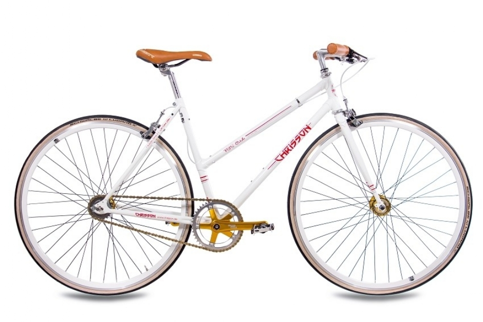 Chrisson FGS CrMo Lady 2S Kick Shift Sturmey Archer weiss rot