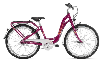 Puky Kinderfahrrad Skyride 24 Zoll 7-Gang Alu Light (Berry)