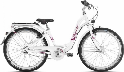Puky Kinderfahrrad Skyride 24 Zoll 7-Gang Alu Light (Weiss-Pink)