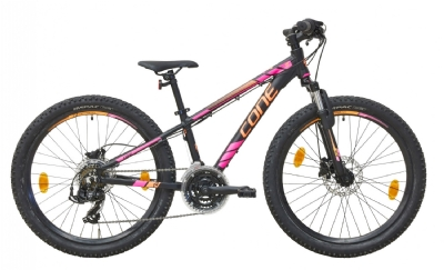 CONE Bikes 240 MTB 21 DISC (Schwarz-Pink-Orange)