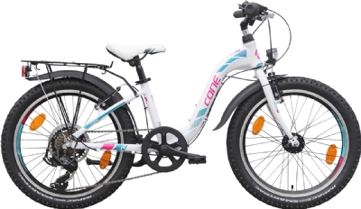 CONE Bikes200 ND 7-Gang W (Weiss-Pink-Türkis)