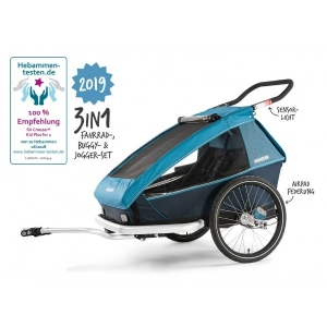 Croozer Kid Plus for 2 (2019) Ocean Blue