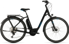 Cube Cube Town Sport Hybrid EXC 500 black´n´blue 2020 Easy Entry