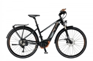 "KTM Power Sport 11+ Trapez E-Bike 28"" Schwarz-Orange 11-Gang Modell 2019"