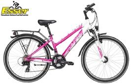 YazooDevil 2.4 Mädchen 24 Zoll pink-weiss