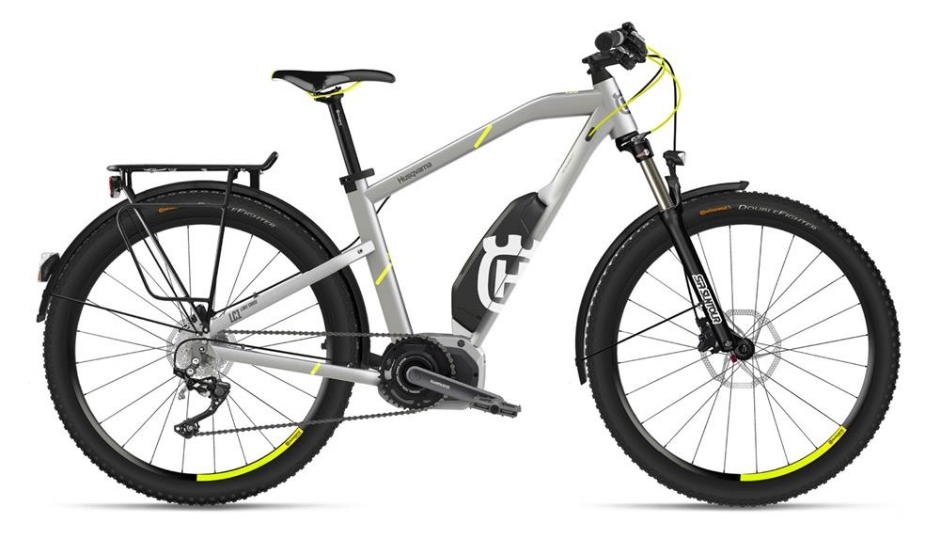 Husqvarna Bicycles LightCross 1 Allroad, Silber/Neon-Gelb
