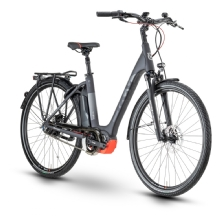 Husqvarna Bicycles Gran City 4 CB, Black/Anthracite/Red
