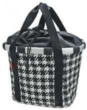 KlickFix Bikebasket Fifties Black