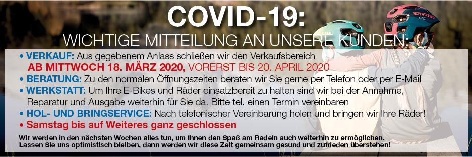 Geschlossen Covid-19