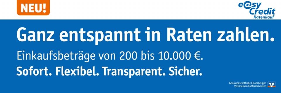 ratenkauf by easyCredit - 200EUR bis 10000EUR