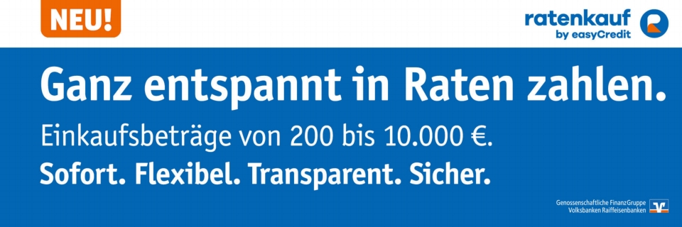 ratenkauf by easyCredit - 200EUR bis 10000EUR